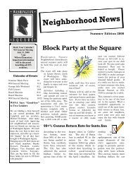 Summer 2000.pub - Washington Square Neighborhood Association