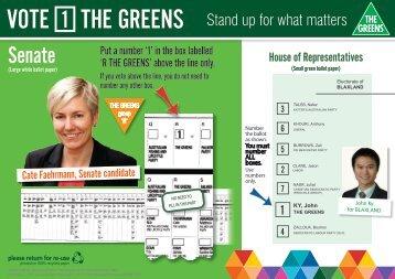 Senate - Australian Greens