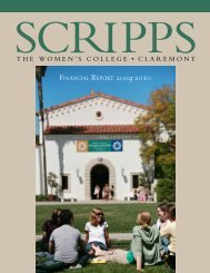 Financial RepoRt 2009-2010 - Scripps College