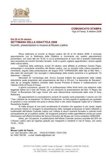 Comunicato stampa italiano - Istitut Cultural Ladin