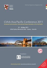 CIArb Asia Pacific Conference 2011-Investment and Innovation ...