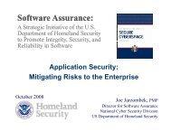 Joe Jarzombek - Build Security In - US-CERT