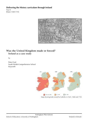 Was the United Kingdom made or forced? - Ireland in Schools