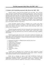 Národný programu kvality SR na roky 2009 – 2012 - Ministerstvo ...