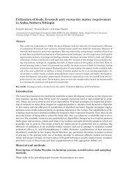 Utilization of feeds, livestock unit versus dry matter requirement in ...