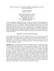 USING TECHNOLOGY AS A TOOL IN ABSTRACT ALGEBRA AND ...
