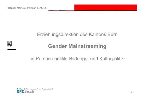 Gender Mainstreaming - Gleichstellungs-Controlling