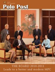 THE BOARD 2010-2011 Leads to a better and ... - Manila Polo Club