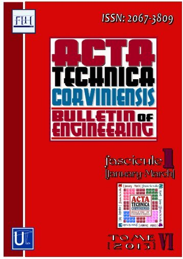 Aims & Scope - Acta Technica Corviniensis