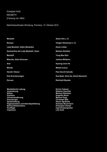 Besetzung und Kritik - Stephan Suschke