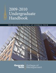 2009-2010 Undergraduate Handbook - Georgia Tech