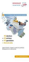 Mitdenken + Mitwirken + Mitgestalten = Demokratie