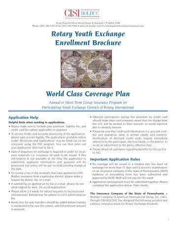 Rotary-PLAN B - Eastern States Student Exchange - ESSEX