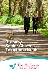 Burnaby Senior Citizens' Telephone Book - Burnaby Community ...