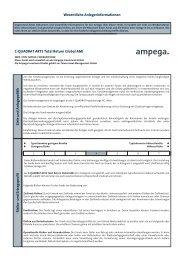 Wesentliche Anlegerinformationen C-QUADRAT ARTS Total Return ...