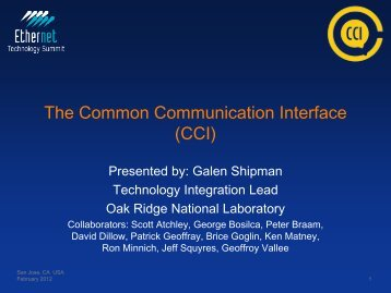 The Common Communication Interface (CCI) - Ethernet Technology ...
