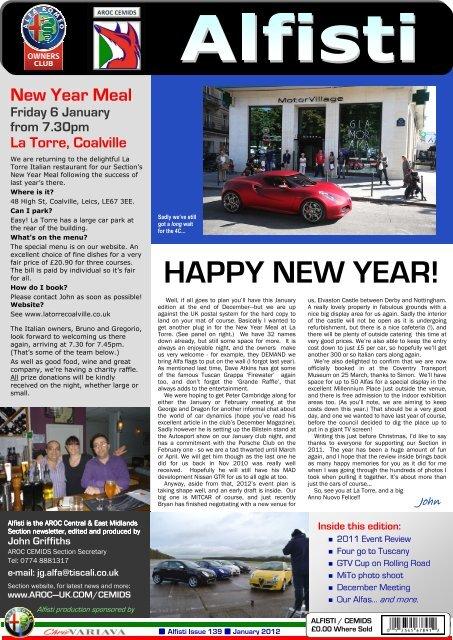 HAPPY NEW YEAR! - Alfa Romeo Owners Club