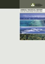 Financial Report 2003-04 - Australian Conservation Foundation