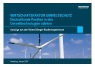 Wirtschaftsfaktor Umweltschutz - Roland Berger Strategy Consultants