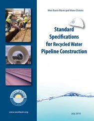 Standard Specifications - West Basin Municipal Water District