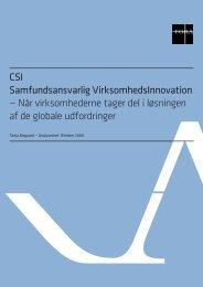 CSI - Samfundsansvarlig VirksomhedsInnovation - Erhvervsstyrelsen