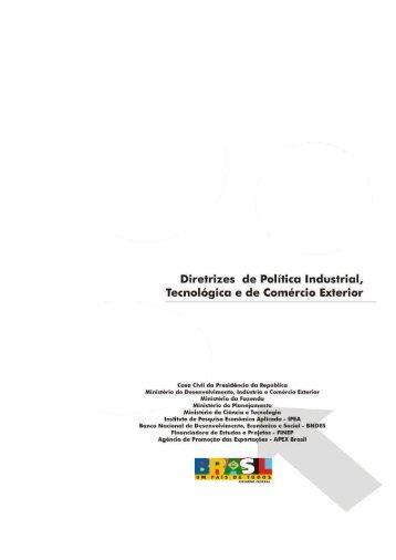 Diretrizes da Política Industrial, Tecnológica e de Comércio Exterior