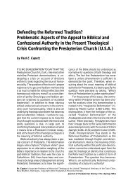 Defending the Reformed Tradition? - Presbyterian Historical Society ...