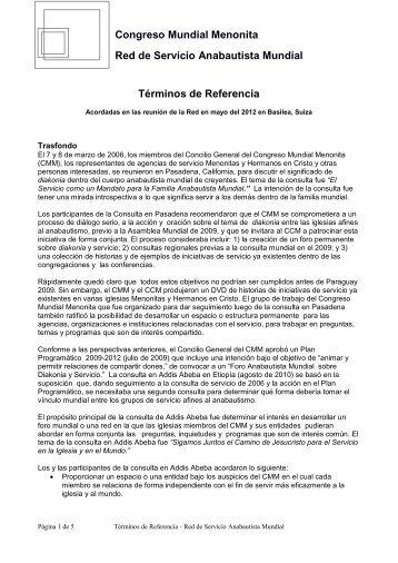 GASN - Mennonite World Conference