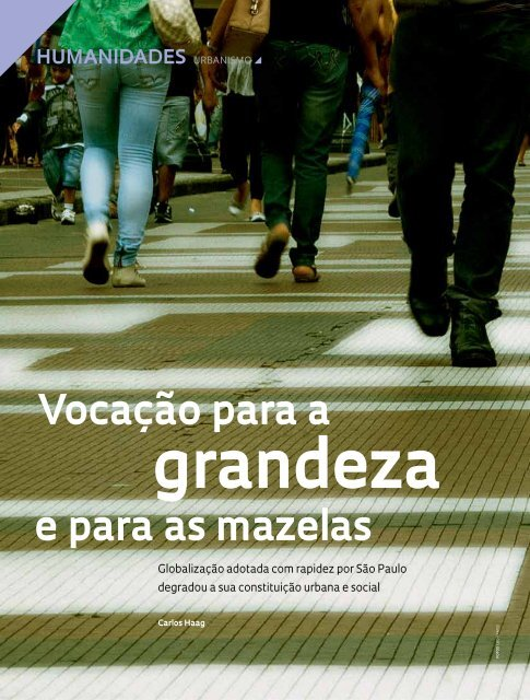Vocação para a e para as mazelas - Revista Pesquisa FAPESP