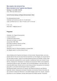 Programm und Biographien - Gong Aarau