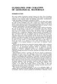 GUIDELINES FOR THE CURATION OF GEOLOGICAL MATERIALS - Page 5