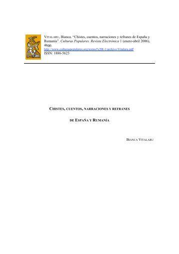 Chistes, cuentos, narraciones y refranes - Culturas Populares ...