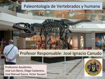 Paleontología de Vertebrados y humana Profesor ... - Aragosaurus