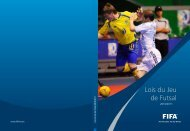 Lois du Jeu de Futsal - SGSV - FSSS