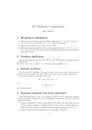 TP : Résultant et applications