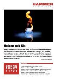 Heizen mit Eis - HAMMER - HEIZUNGSBAU GmbH