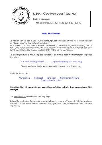 1. Boxclub Homburg/Saar eV