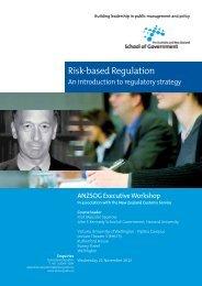 Risk-based Regulation - Australia and New Zealand School of ...