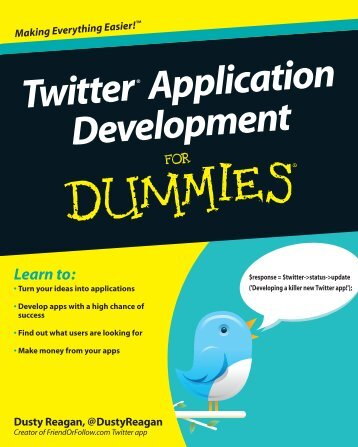 Twitter Application Development For Dummies pdf