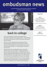 Ombudsman News Issue 97 - Financial Ombudsman Service