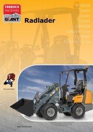 Radlader - Tobroco Machines