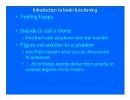 • Feeling happy • Decide to call a friend • Figure out solution ... - Home