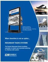 Redundant Radio Systems - Daniels Electronics