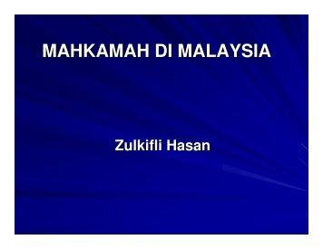 MAHKAMAH DI MALAYSIA - WordPress.com