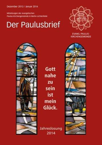 Der Paulusbrief - Ev. Paulusgemeinde Lichterfelde
