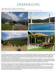Villa Mandarin, Dubrovnik Riviera - CroatiaGems
