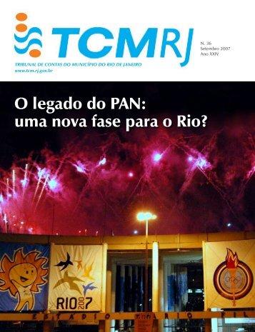 O legado do PAN: uma nova fase para o Rio? - Tribunal de Contas ...