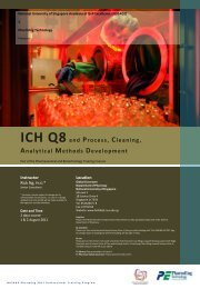 ICH Q8 and Process, Cleaning, Analytical Methods Development