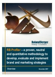 RB Profiler - Roland Berger Strategy Consultants