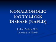 nonalcoholic fatty liver disease (nafld) - Pediatric Residency Program